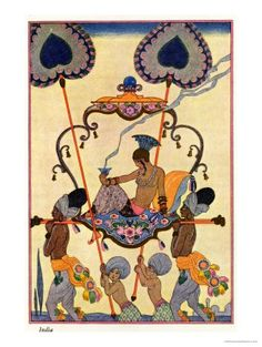 """Georges Barbier - India, from """"The Art of Perfume,"""" Published 1912"""