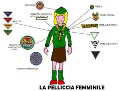 The female cub scout uniform in Italy (cngei)  #italian #girlscout #cubscout #Thinking Day