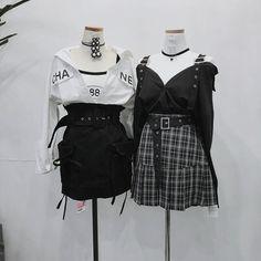 #wattpad #de-todo Aquí encontrarás ropa y variados atuendos que puedes usar en tus historias . Se aceptan pedidos . Kpop Fashion Outfits, Ulzzang Fashion, Stage Outfits, Edgy Outfits, Korean Outfits, Mode Outfits, Cute Casual Outfits, Girl Outfits, Kawaii Fashion