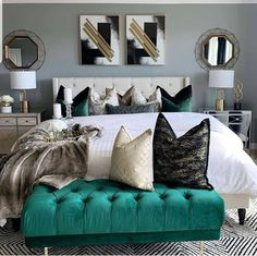 Glam Bedroom, Room Ideas Bedroom, Home Bedroom, Bedroom Decor, Master Bedroom, Bedroom Furniture, Make Your Bed, Awesome Bedrooms, Luxurious Bedrooms