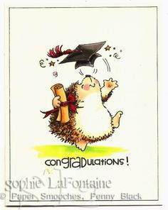 Hedgehog graduate by SophieLaFontaine - Cards and Paper Crafts at Splitcoaststampers