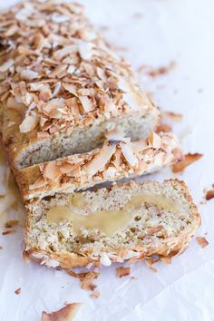 Toasted Coconut Lemon Bread with Salted Honey Butter   halfbakedharvest.com