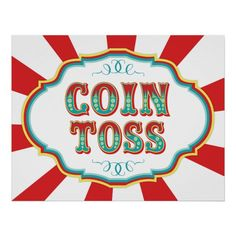 Carnival Game Sign Coin Toss Carnival Game Signs, Carnival Party Games, Carnival Party Invitations, Homemade Carnival Games, Diy Carnival, School Carnival, Carnival Birthday Parties, Carnival Themes, Circus Birthday