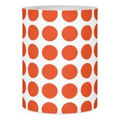 Orange Polka Dots Flameless Candle