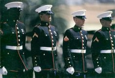 marine dress blues-No uniform has ever looked better in my eyes.