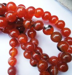 Red Agate Round Gemstone Beads for Jewellery Making Size (mm) 10 Gemstone Beads, Crystal Beads, Crystals, Red Agate, Jewellery Making, Gemstones, Fruit, Board, Ebay