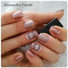 "La imagen puede contener: texto que dice ""Alessandra Camilo"" Shellac Nail Designs, Shellac Nails, Matte Nails, Nail Art Designs, The Art Of Nails, Long Nails, Nails Inspiration, Pedicure, Nail Colors"