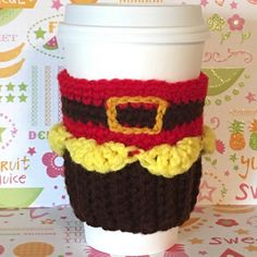 Gaston Cupcake Coffee Cozy by CuteCreationsByDany on Etsy