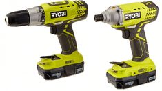 Ryobi One+ Lithium-Ion Drill and Impact Driver Kit: Delivers high performance in heavy-duty applications. All-metal ratcheting keyless chuck for greater bit retention. Soft grip handle design offers increased gripping surface and comfort. Cordless Power Drill, Cordless Drill Reviews, Large Bathtubs, Pedestal Sink, Impact Driver, Stained Glass Panels, Drill Driver, Ceiling Fixtures