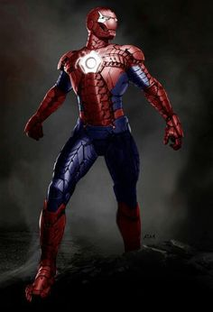 Arachnaut aka  Spider-Iron : a Mash Up of Iron Man and Spider-Man by Yousuf Khan J °°