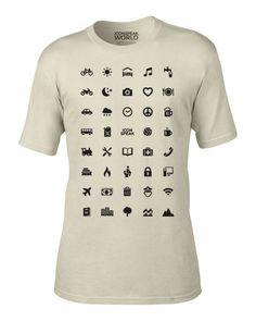 camiseta 44 iconos
