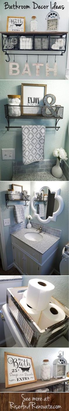Bathroom Makeover - Sherwin Williams Sea Salt -- Full Bathroom Makeover with Floors and Paint : Rise and Renovate Bathroom Mirrors Diy, Vintage Bathroom Decor, Paint Bathroom, Vintage Decor, Framed Mirrors, Budget Bathroom, Master Bathroom, Wooden Bathroom, Diy Mirror