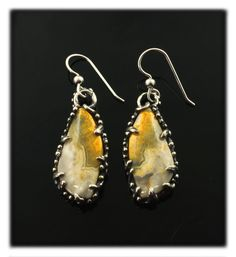 Sterling Silver Honey Bee Drop Earrings PmCstRARN