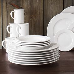 new dishes! I really need some mine are all chipped and old. Love & Canopy Beaded Porcelain 32-Piece White Dinnerware Set Value Bundle ...