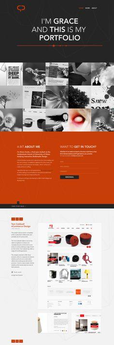 Portfolio Design by ~mindCollision on deviantART web design