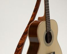 Handcrafted WM Guitar Stand in Cocobolo