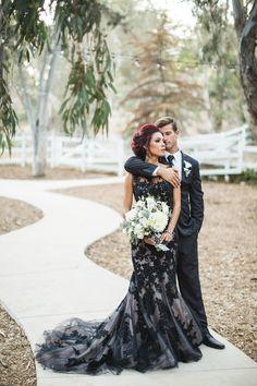 black lace wedding g