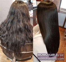 Her hair shines. Japanese Hair Straightening, Best Hair Salon, Japanese Hairstyle, Perms, Her Hair, Kinky, Hair Color, Curly, Hairstyles