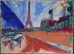 Marc Chagall - Le Pont de Passy et la Tour Eiffel