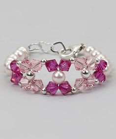 Take a look at this Fuchsia & Pink Crystal Bracelet by Crystal Dream on #zulily today! $21 !!