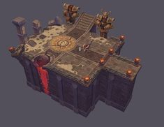 Handpainted game environment by Eric Huang on ArtStation. Game Environment, Environment Concept Art, Environment Design, Prop Design, Game Design, Game Textures, Hand Painted Textures, Building Concept, Low Poly 3d Models