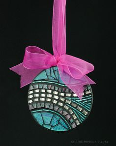 Art Deco Mosaic Wall Hanging or Christmas Ornament by CherieBosela, $45.00