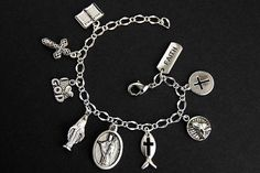 I am a Catholic Charm Bracelet. I am a Catholic Bracelet. Christian Bracelets, Christian Jewelry, Catholic Jewelry, Thing 1, Bracelet Sizes, Charm Jewelry, Fashion Bracelets, Handmade Jewelry, Charmed