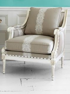 Love this classic-style chair...neutrals, can't go wrong!