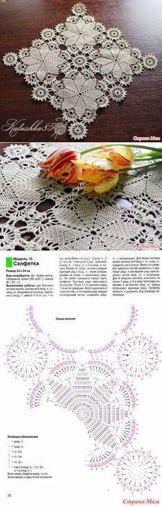 Салфетка 'Ажурные звезды' - Вязание - Страна Мам | Вязание | Постила