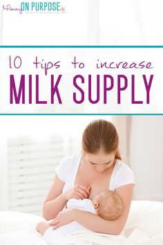 ways to increase breast milk supply