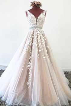 Elegant V Neck Backless Pink Tulle Lace Appliques Long Prom Dress cathyprom_offical for this post.This is a pink tulle elegant long prom dress with lace appliques. Silhouette:A-Line Hemline/Train:Sweep Train Neckline:V Neck Embel# APPLIQUES # V Neck Prom Dresses, Tulle Prom Dress, Lace Evening Dresses, Tulle Lace, Lace Dress, Pink Tulle, Dance Dresses, Maxi Dresses, Summer Dresses