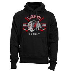 Chicago BLACKHAWKS Hoodie Indian Crossed Hockey Sticks Shirt Stanley Cup Shirt Blackhawks tShirt Sweatshirt