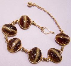Vintage Hillcrest Gold Filled Art Gl Scarab By Gretelstreasures 27 00 Bracelet