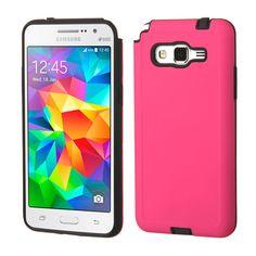 MYBAT Samsung Galaxy Grand Prime Dual Armor Case - Hot Pink/Black