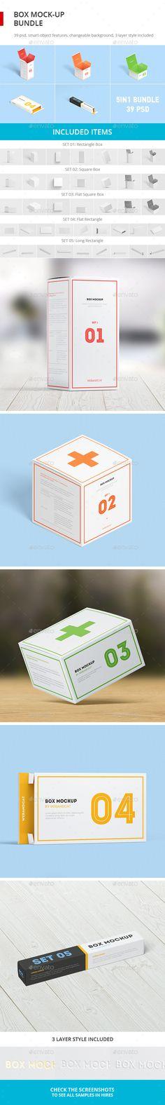 Box Mock-up Bundle #box #mockup #bundle