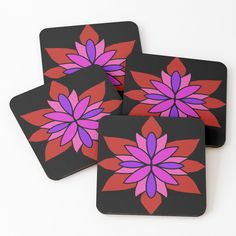 """Lotus Star Design"" Coasters (Set of 4) by Pultzar 