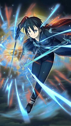 Wall paper anime art online images Ideas for 2019 Online Anime, Online Art, Online Images, Espada Anime, Sword Art Online Wallpaper, Kirito Asuna, Sword Art Online Kirito, Estilo Anime, Animes Wallpapers