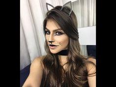 MAQUIAGEM DE GATINHA PARA CARNAVAL - YouTube