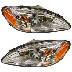 Headlights Headlamps Left & Right Pair Set NEW for 00-07 Ford Taurus #AftermarketReplacement
