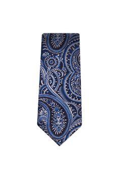 Nicholas Jermyn Paisley Silk Tie  $89.00