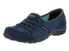 a5d059f3bdb Skechers Relaxed Fit Breathe Easy Save The Date Womens Sneakers Navy Green 9