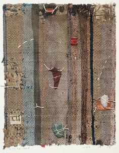 collage, painting on old fabric | hayashi takahiko, 2005