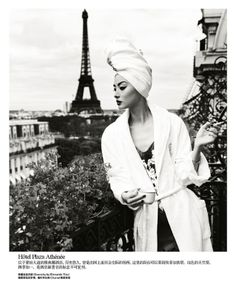"Life in pics: Editorials: ""Une journèe à Paris"" - Miao Bin Si by Yin Chao"