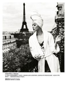 """Life in pics: Editorials: """"Une journèe à Paris"""" - Miao Bin Si by Yin Chao"""
