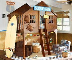 Haus am Strand originelle Idee für ein Bett für Jungen