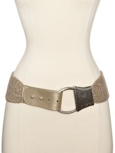Wish it was real chains, but still love Streets Ahead Women's Metallic Woven Wide Belt, As Sampled, Large: Clothing