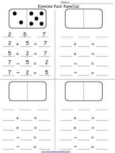 Domino Fact Families Student Activity Sheet-use with Everyday Math Math Classroom, Kindergarten Math, Teaching Math, Classroom Ideas, Preschool, Math Resources, Math Activities, Indoor Activities, Summer Activities