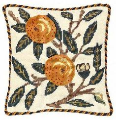 "William Morris Fruits ""Orange"" Beth Russell Designer Forum Tapestry Printed Kit"