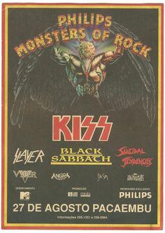 Monsters of rock concert posters | do poster e o link das historias e anos que teve o monster of rock ...