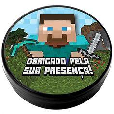 Latinha Plástica 5x1 Lembrancinha Minecraft STEVE